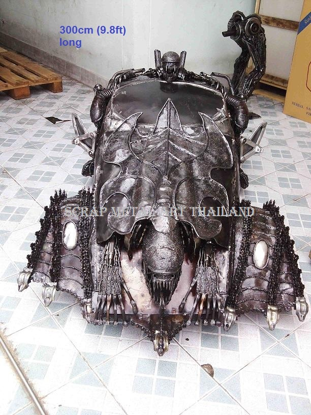 alien car automobile model scrap metal art thailand for sale