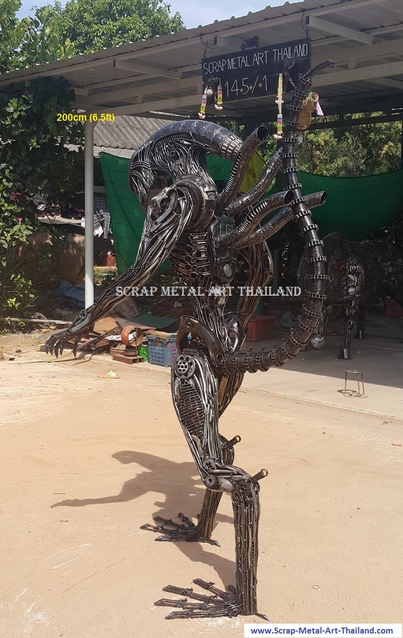 Alien Statue for sale Life Size Figure Sculpture Metal Replica