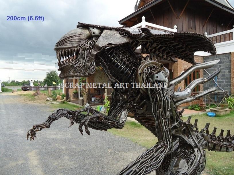 Alien Statue Life Size metal Figure Sculpture Replica for sale