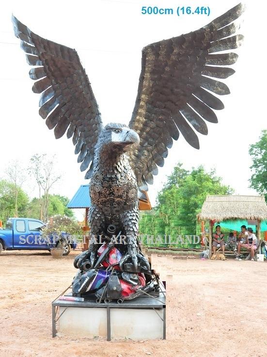 Giant eagle sculpture/statue life size scrap metal art for sale