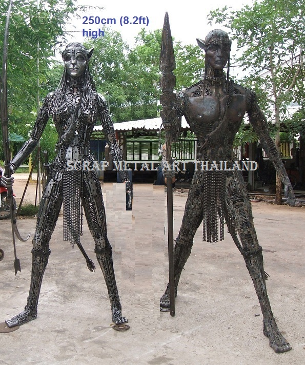 avatar figure statue sculpture full life size scrap metal art for sale