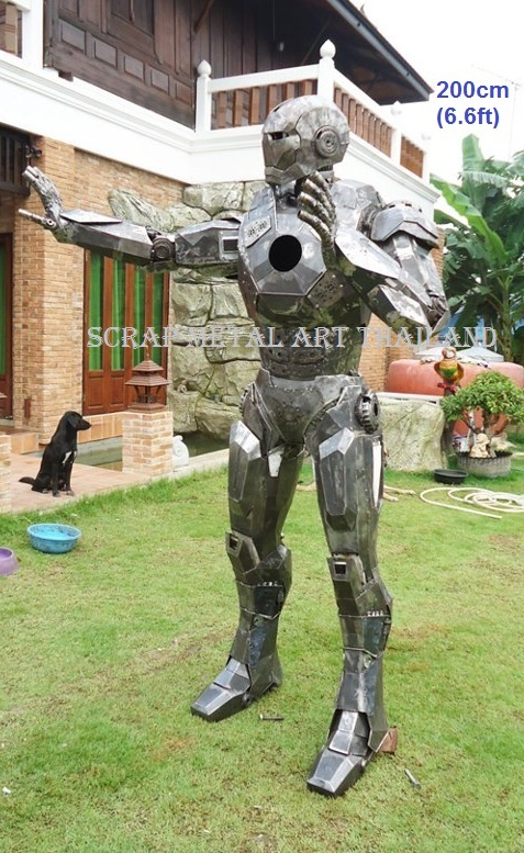 Iron Man sculpture statue for sale, life size metal figure replica