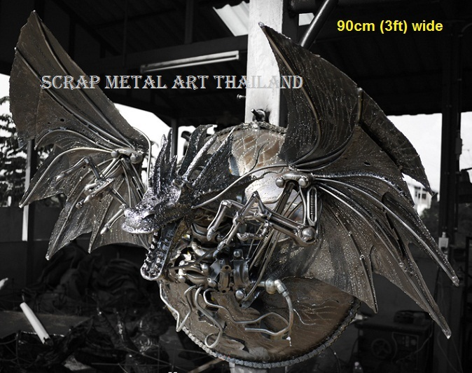 dragon lamp, metal wall art for sale