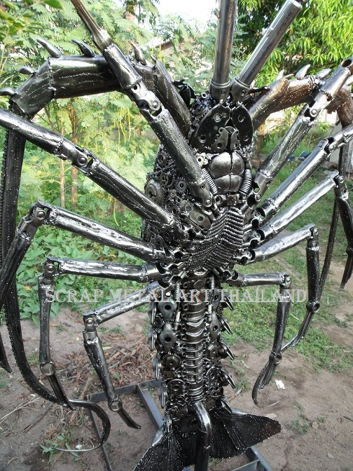 Lobster Statue Sculpture for sale, Life Size Metal Animal Yard and Garden Art