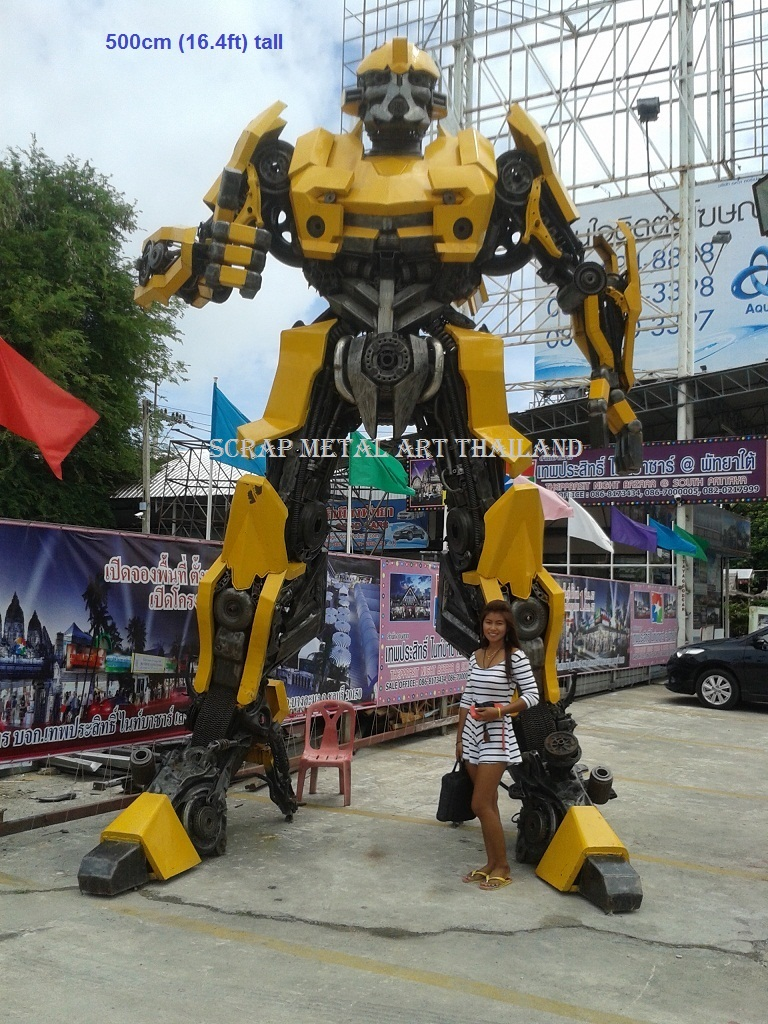 giant 5 meter bumblebee transformers statue sculpture replica full life size