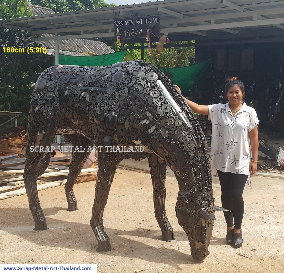 Horse Statue Sculpture for sale, Life Size Metal Animal Yard and Garden Art