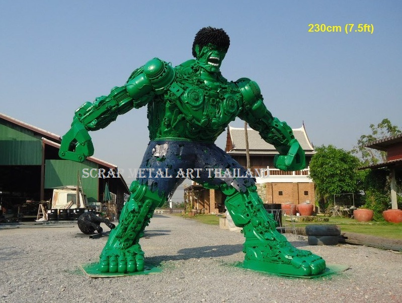 hulk figure statue sculpture full life size scrap metal art for sale