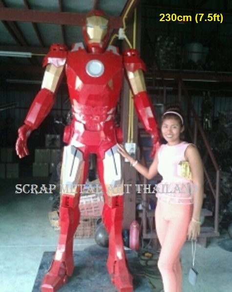 Iron Man statue sculpture for sale, life size metal figure replica