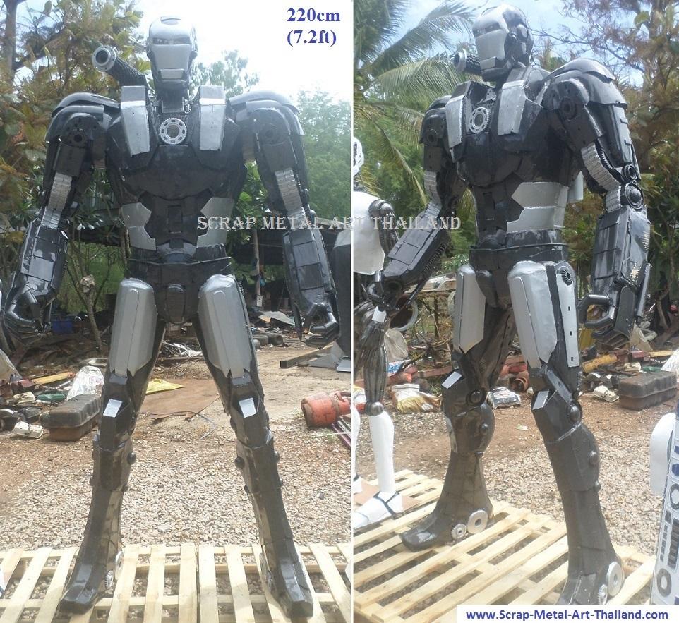 ironman war machine mark1 statue sculpture replica full life size