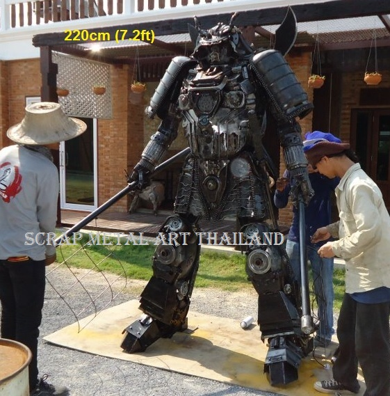 Japanese Samurai Warrior statue sculpture for sale, life size metal figure replica