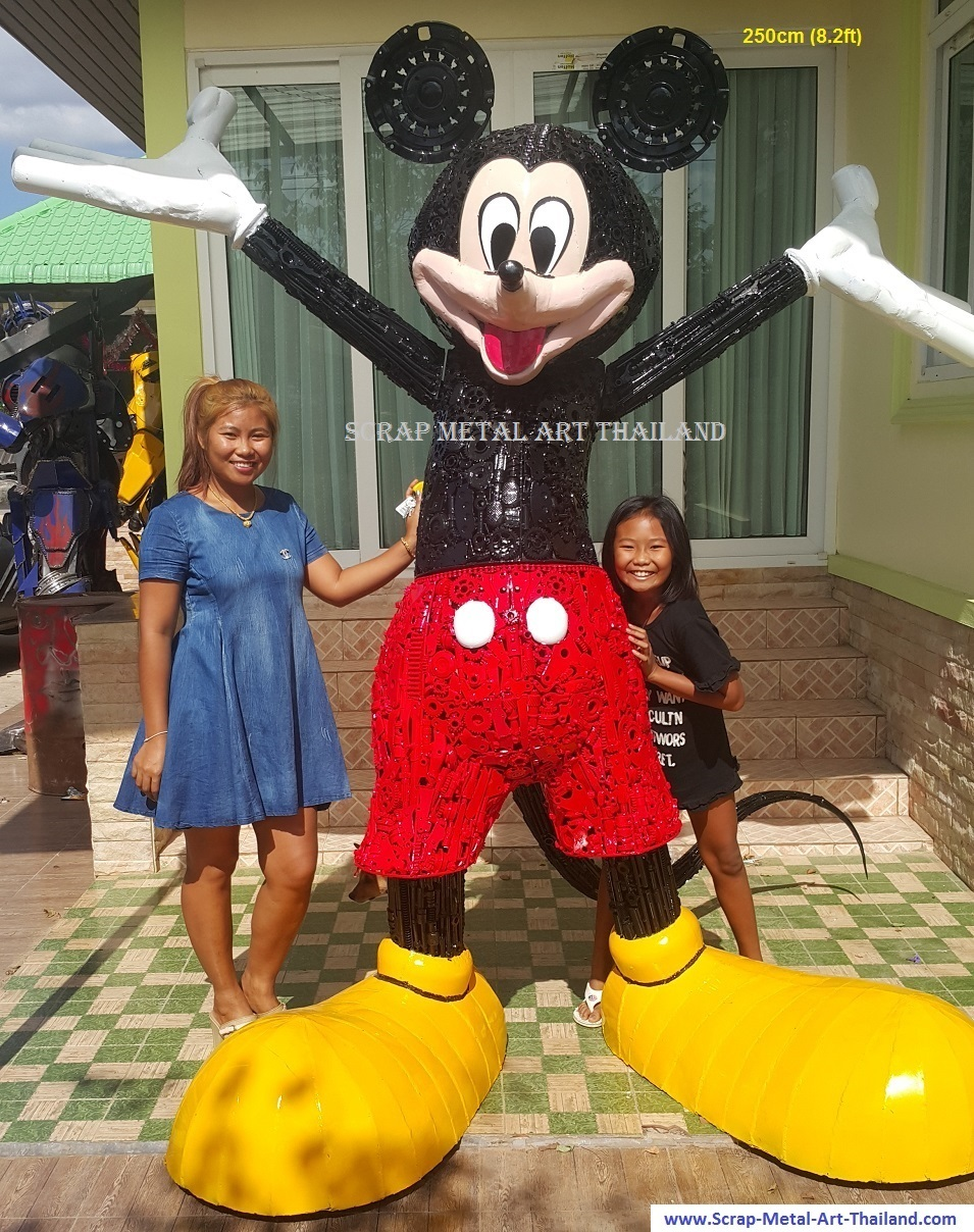Micky Mouse statue sculpture for sale, life size metal action figure