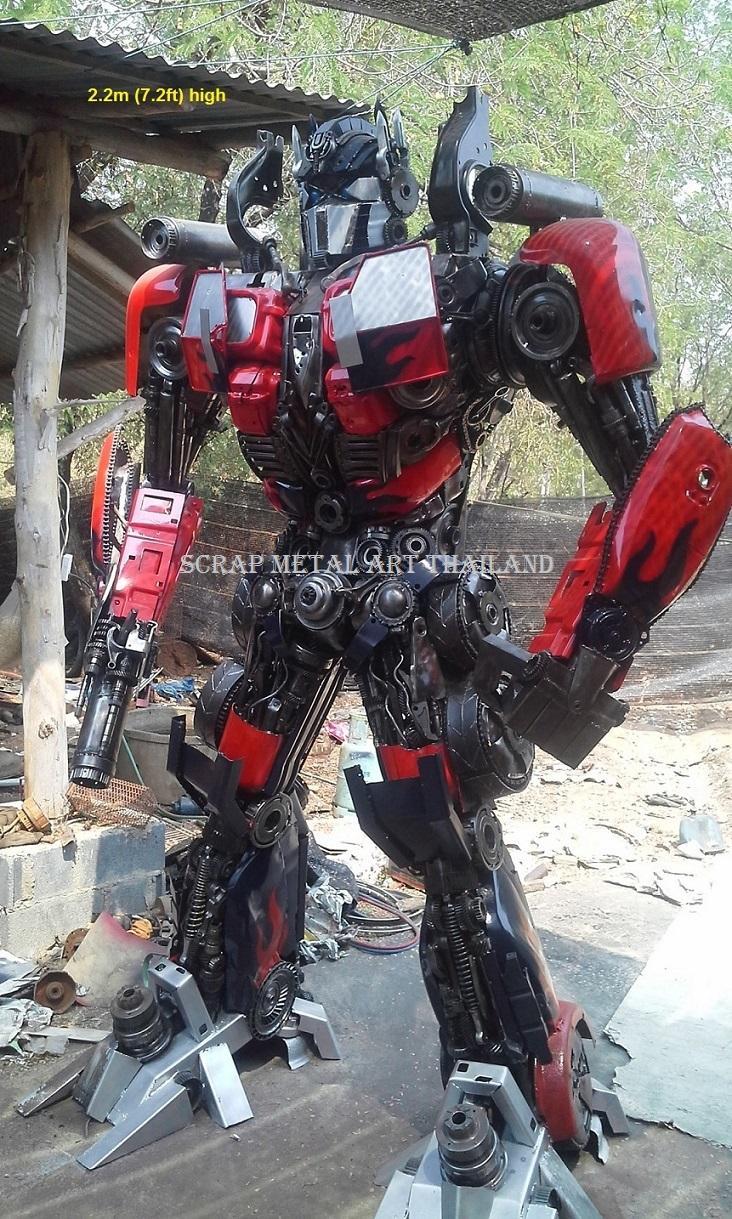 Transformers Optimus Prime Statue Figure for sale Life Size Scrap Metal Art Thailand