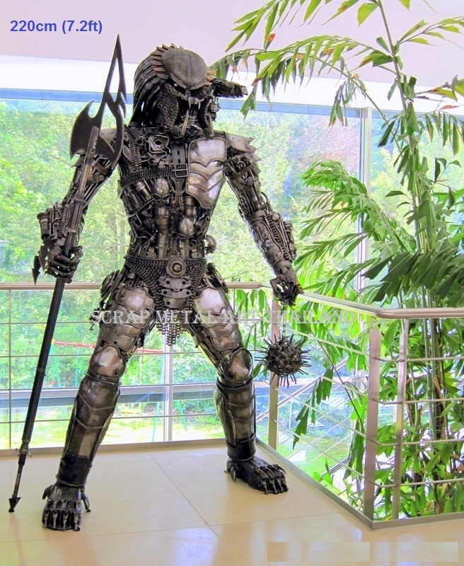 predator figure statue full large life size scrap metal art for sale