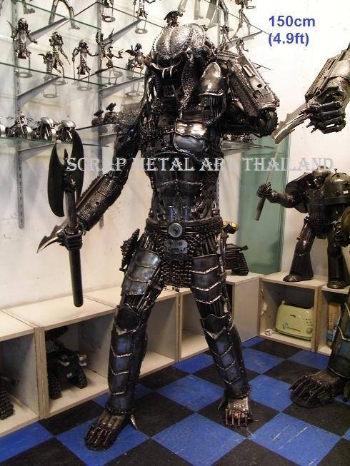 Predator Figure for sale Life Size scrap Metal art Statue Sculpture for sale