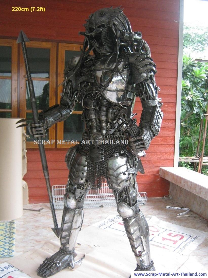 Predator Sculpture Life Size Figure Metal Statue for sale Thailand