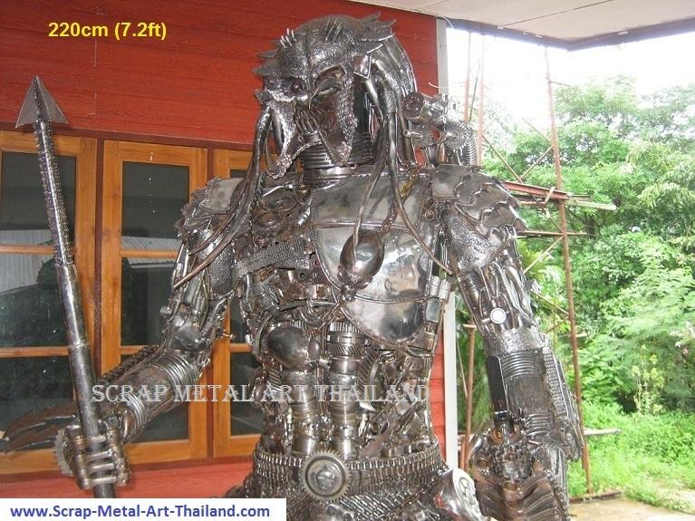 Predator action Figure Life Size Metal Statue Sculpture for sale Thailand