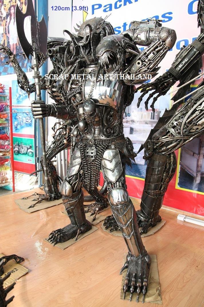 Predator statue Figure Life Size scrap Metal Sculpture for sale
