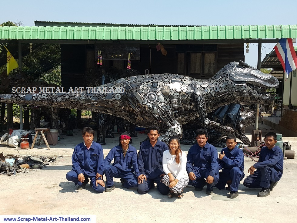 scrap metal art thailands team in 2016
