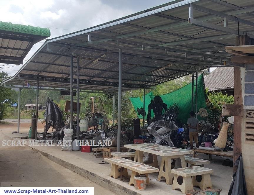 scrap metal art thailands workshop