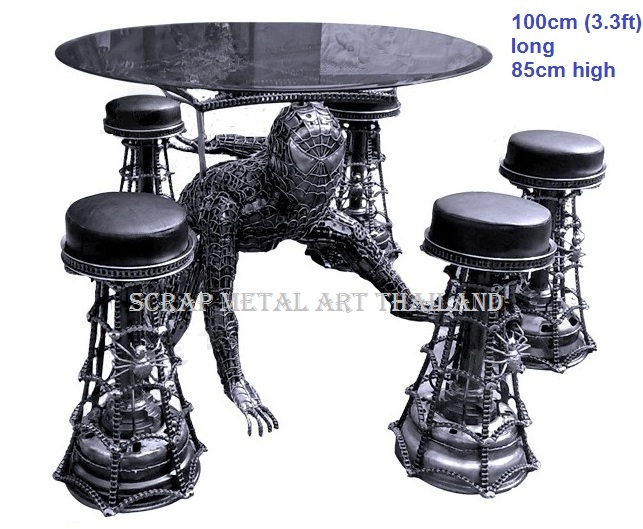 spiderman table life size furniture art for sale