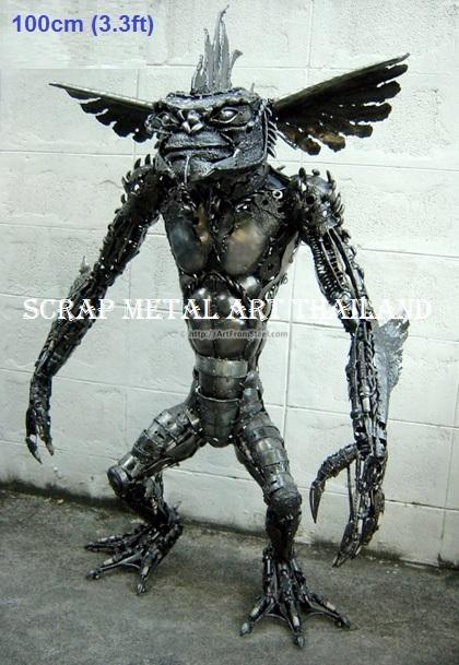 star wars gremlin figure statue full life size scrap metal art for sale