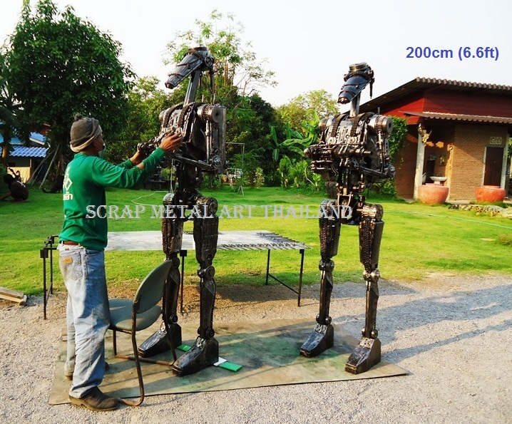 Star Wars Battledroid statues sculptures for sale, life size metal action figures
