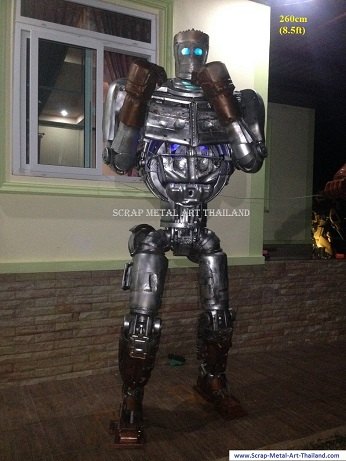 ATOM Robot Real Steel Statues Sculptures for sale, life size metal figures