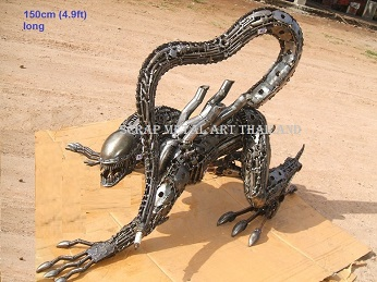 life size alien statue sculpture replica figure for sale