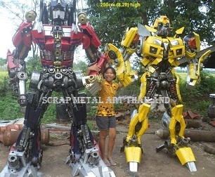Transformers Bumblebee Optimus Prime Statues Figures for sale Life Size
