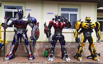 Transformers Bumblebee Optimus Prime Statues Figures for sale Life Size Replicas