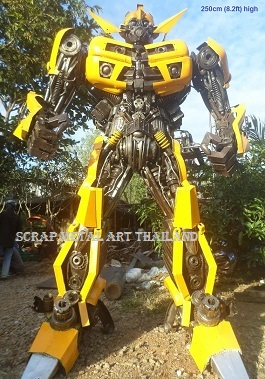 Bumblebee Transformers Figures for sale Life Size Metal Art Thailand
