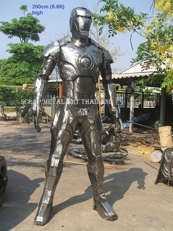 Iron Man Sculptures Statues for sale, life size metal Figures Replicas