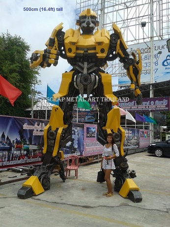 Large Transformer Bumblebee Statues Figures for sale Life Size Metal Art Thailand