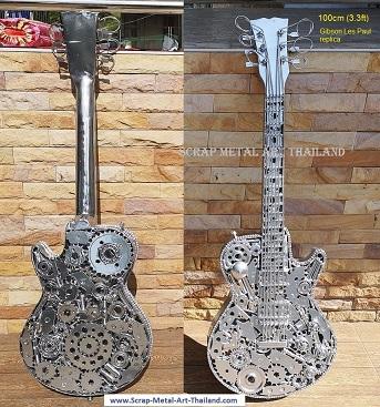 guitar Gibson Les Paul replica scrap metal art