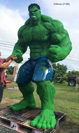 Hulk Statues Sculptures for sale, life size metal figure