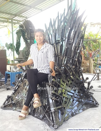Iron Throne real life size replica Game of Thrones, for sale
