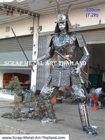 Japanese Samurai Warrior Statues Sculptures for sale, life size metal Figures Replicas