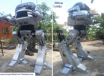 Robocop ED209 Statues Sculptures for sale, life size metal  figures