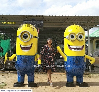 MINION statues sculptures for sale, life size metal figures
