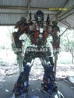 Optimus Prime Transformers Statues Figures for sale Life Size scrap Metal art