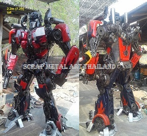 Optimus Prime Statues Figures for sale Life Size Metal Art Thailand