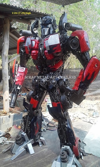 Transformers Optimus Prime Statues Figures for sale Life Size Scrap Metal Art Thailand