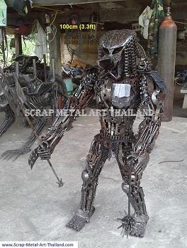 Predator junior warrior statue