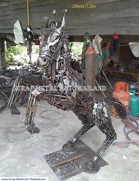 Rearing Horse statue, metal animal art