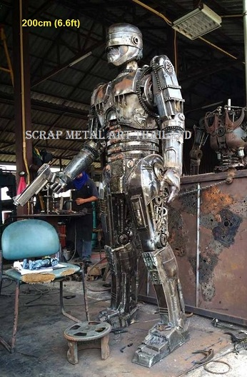 Robocop Statues Sculptures for sale, life size metal figures