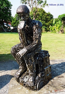 Rodin the thinker Statues life size scrap metal art for sale