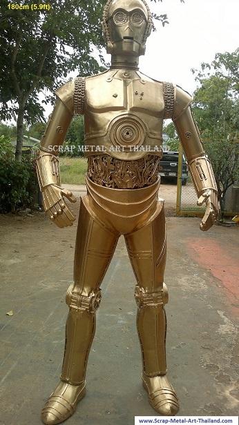 life size star wars C3PO statue sculpture replica figure for sale