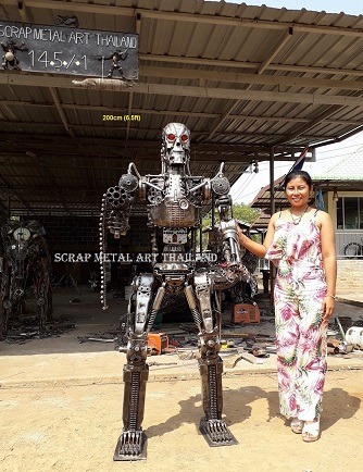 Terminator T-800 Endoskeleton Life Size Figures Metal Replicas for sale, from Thailand